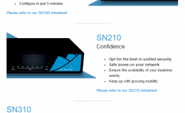 Stormshield Network Security SN160, SN210 & SN310